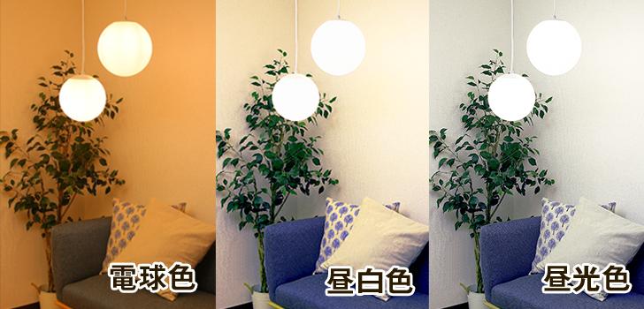 昼白色と電球色